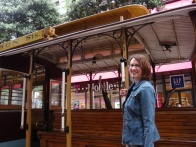 Mandy on Trolley at ASM in San Francisco