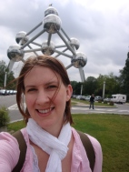 Mandy at the Atomium in Belgium, Biometals 2012