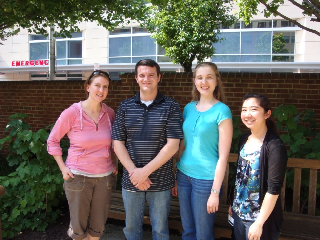 OS Lab 2012. From left to right: Mandy Oglesby-Sherrouse, Jon Osborne, Alexandria Reinhart, Angie Nguyen
