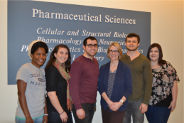 OS Lab, January 2018. From left to right: Louise Djapgne, Cassie Nelson, Jonathan Gans, Mandy Oglesby-Sherrouse, Luke Brewer, Ashley Lykins