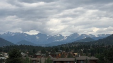 Rocky Mountains from Estes Park, CO